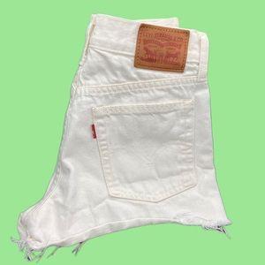 Vintage 90s Levi's high waist denim cut off shorts